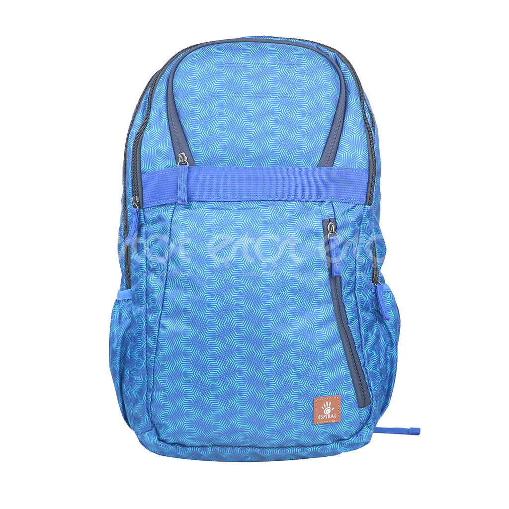 Espiral 202002 Nylon Fabric And Super Light Weight Water Resistant & Washable School Collage & Traveling Backpack Bag (blue Aop)