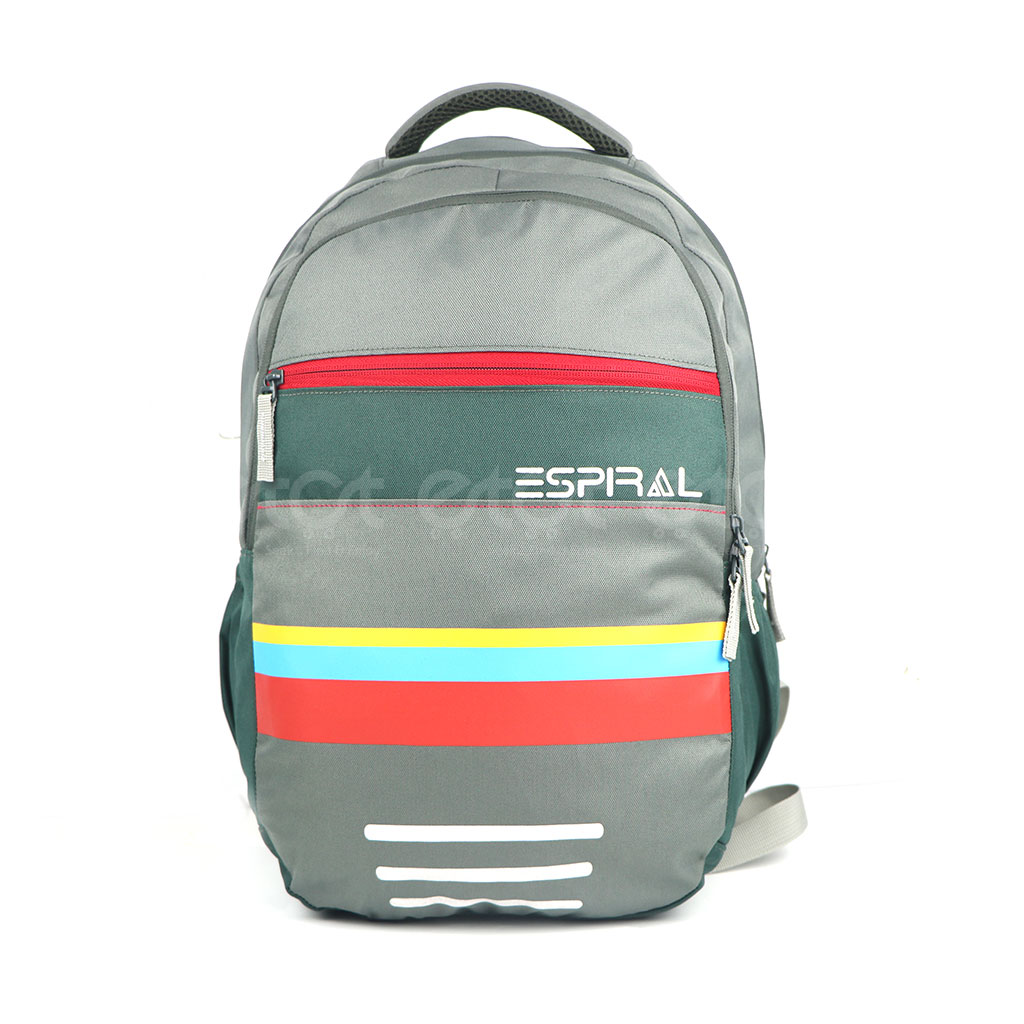 Espiral 201101 Nylon Fabric And Super Light Weight Water Resistant & Washable School Collage & Traveling Backpack Bag (olive)