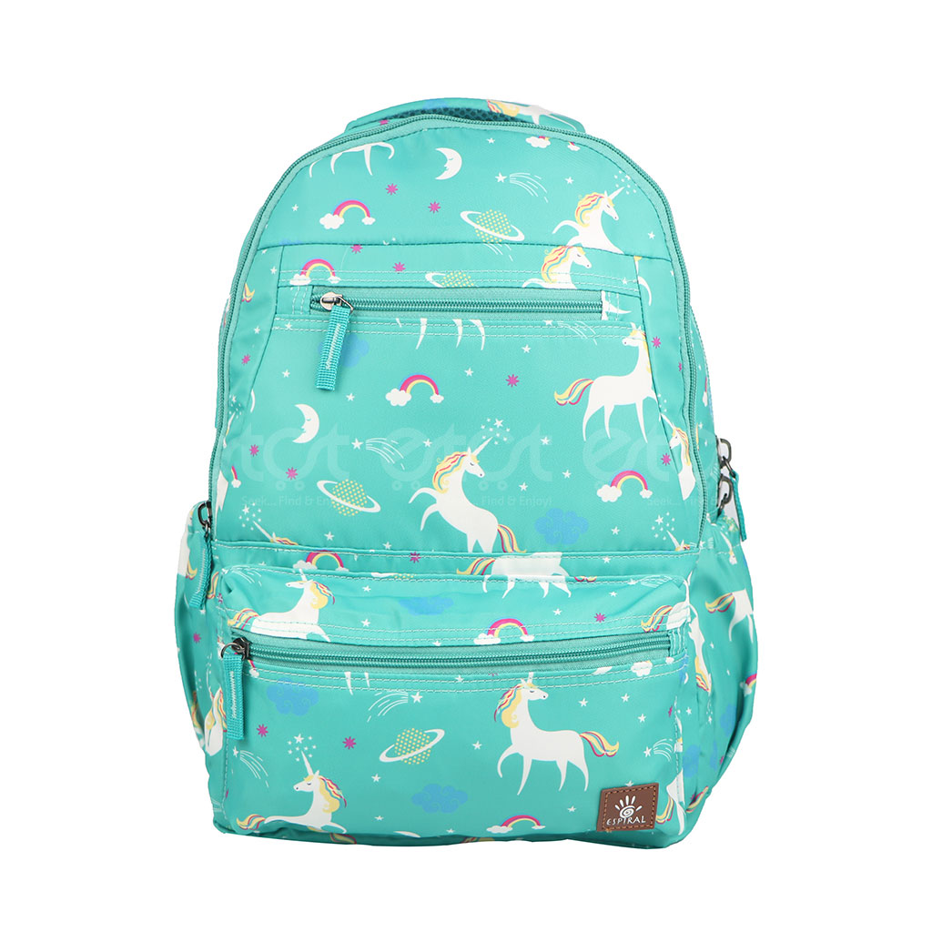 Espiral 205305 Nylon Fabric And Super Light Weight Water Resistant & Washable School Collage & Traveling Backpack Bag (paste Aop)
