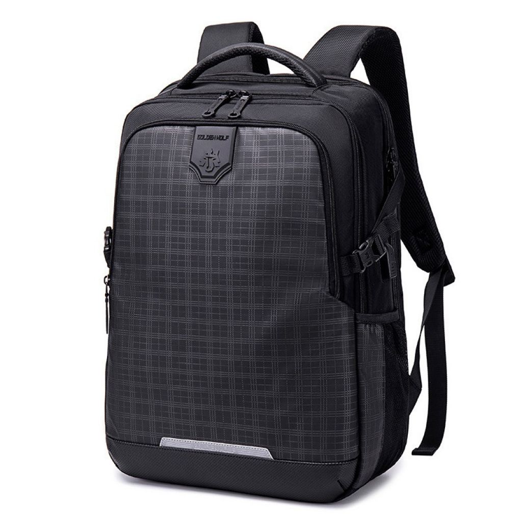 Golden Wolf Gb00444 Lightweight Stylish And Professional School Collage Laptop & Travel Backpack (grid)