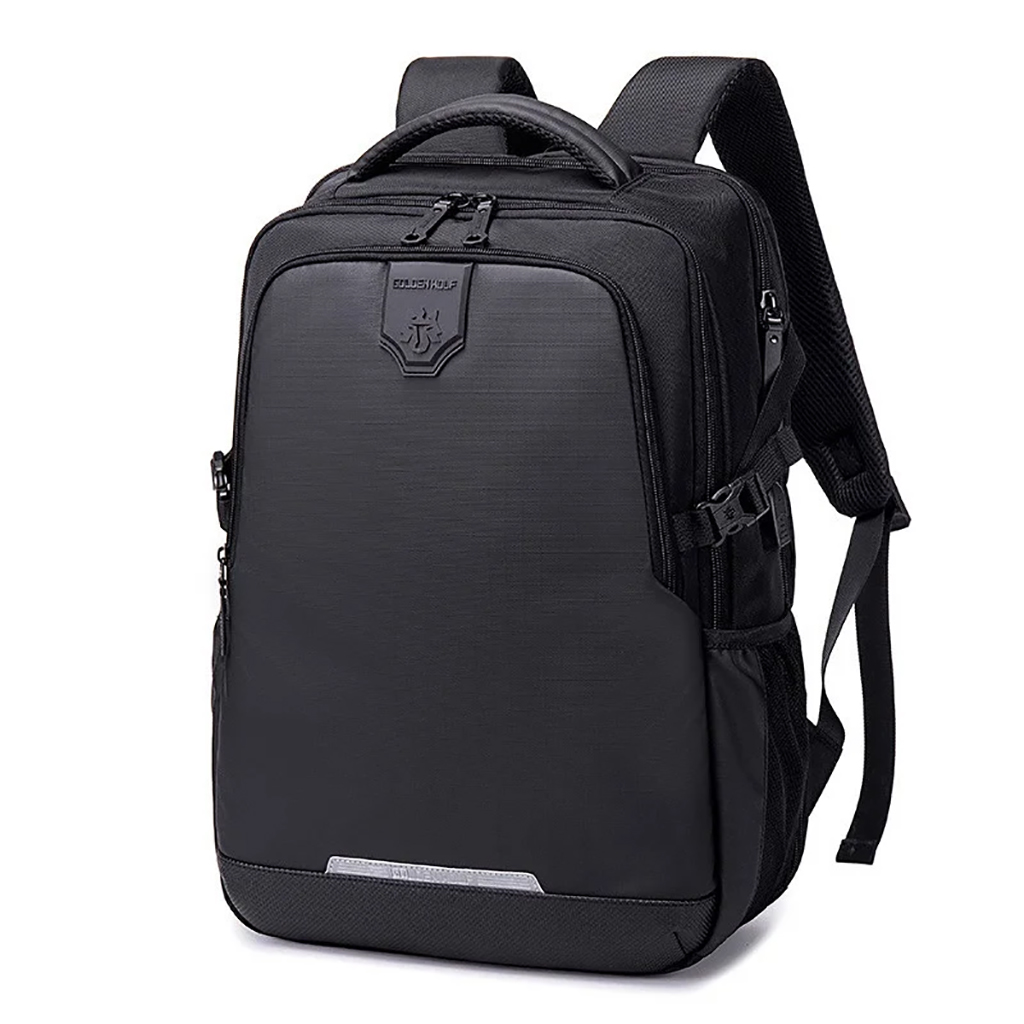 Golden Wolf Gb00444 Lightweight Stylish And Professional School Collage Laptop & Travel Backpack (black)