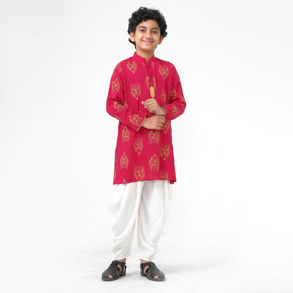 Twelve Punjabi For Baby Boy (red)