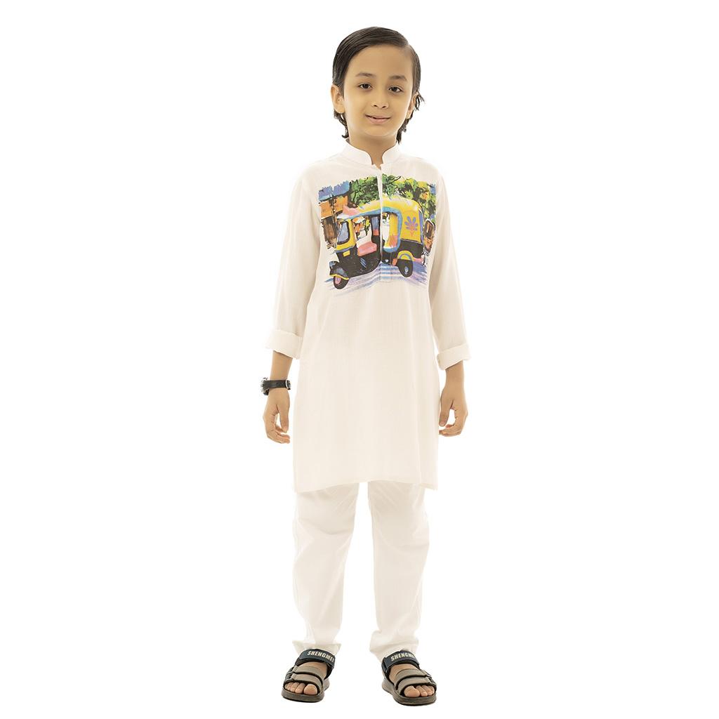 Twelve Punjabi For Baby Boy (white)