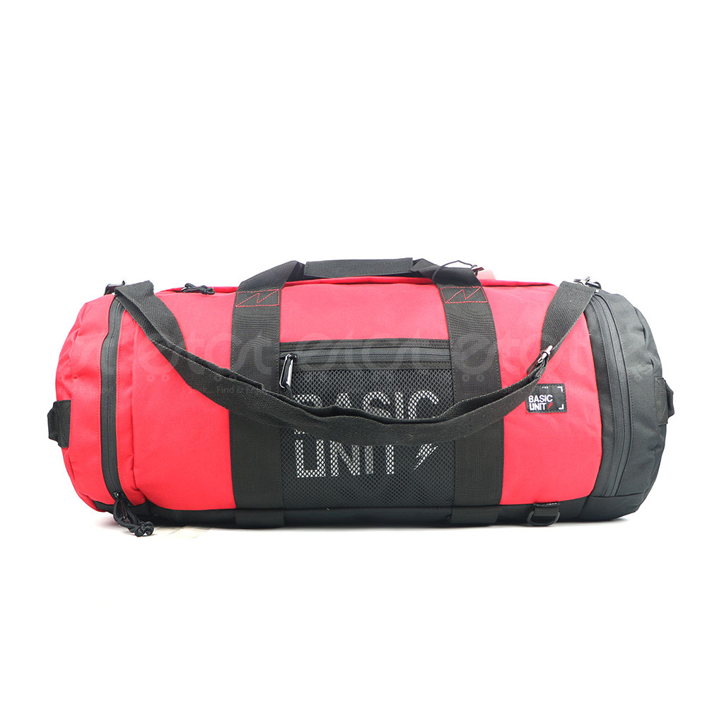 Basic Unit F5s Large Size Stylish And Professional Outdoor Sports Gym Duffel And Travel Bag (red)