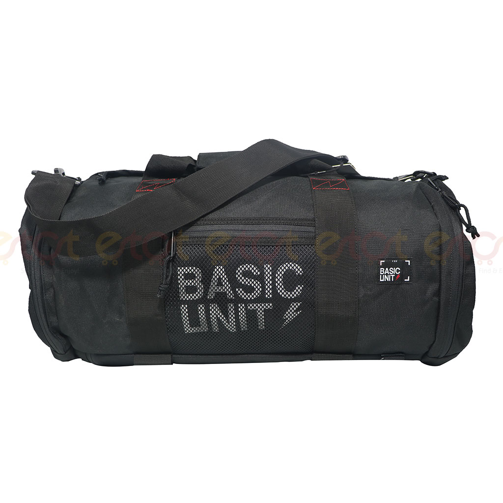 Basic Unit F5s Large Size Stylish And Professional Outdoor Sports Gym Duffel And Travel Bag (black)