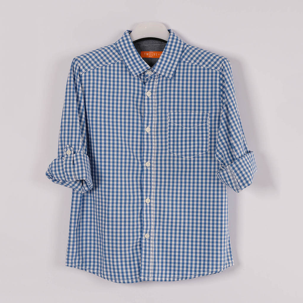 Twelve Shirt For Baby Boy (blue White)