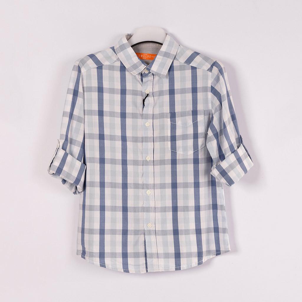 Twelve Shirt For Baby Boy (grey White)