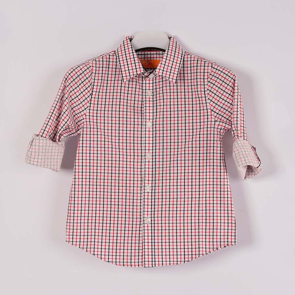 Twelve Shirt For Baby Boy (red Black)