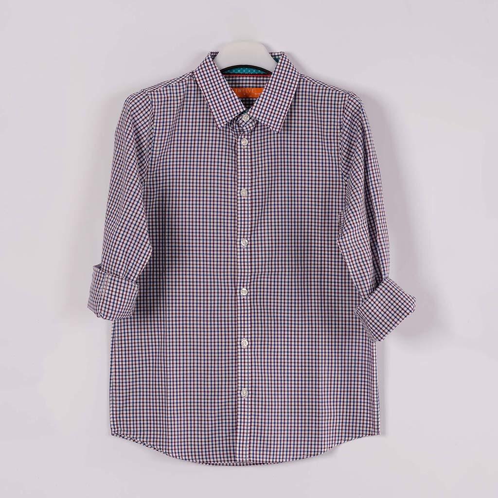 Twelve Shirt For Baby Boy (blue Maroon)