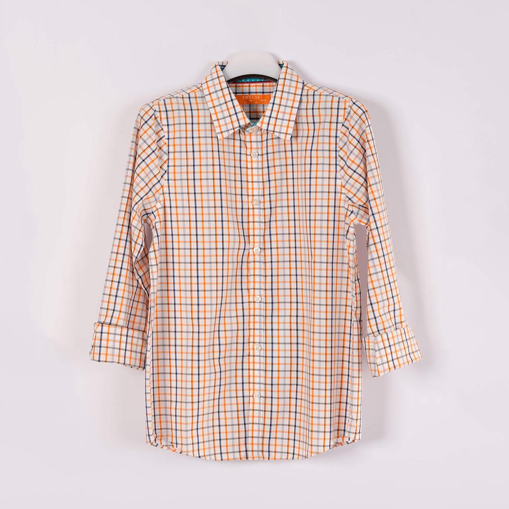 Twelve Shirt For Baby Boy (orange White)