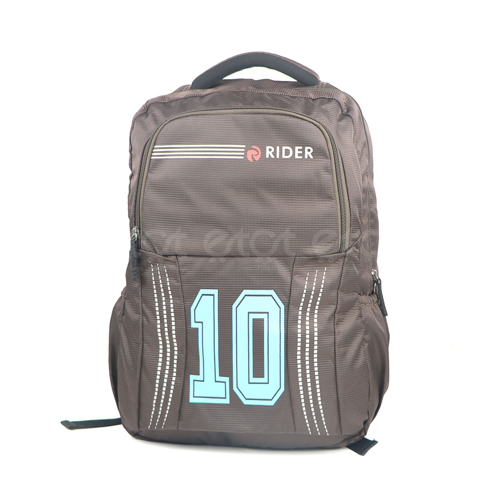 Espiral Rider 10series Nylon Fabric Super Light Weight Traveling School College & Laptop Backpack (chocolate)