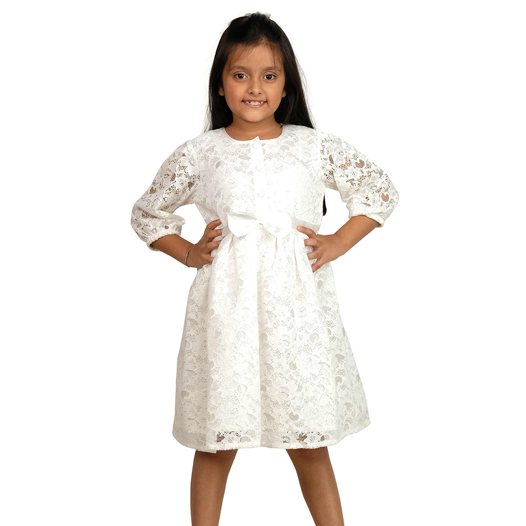 Twelve Girls Frock (off White)