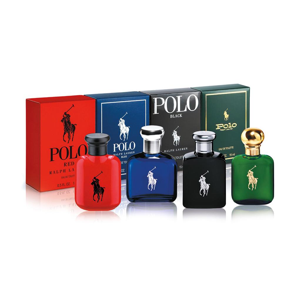 Ralph Lauren Edt 4 X 15ml (polo Green + Polo Blue + Polo Red + Polo Black) Set