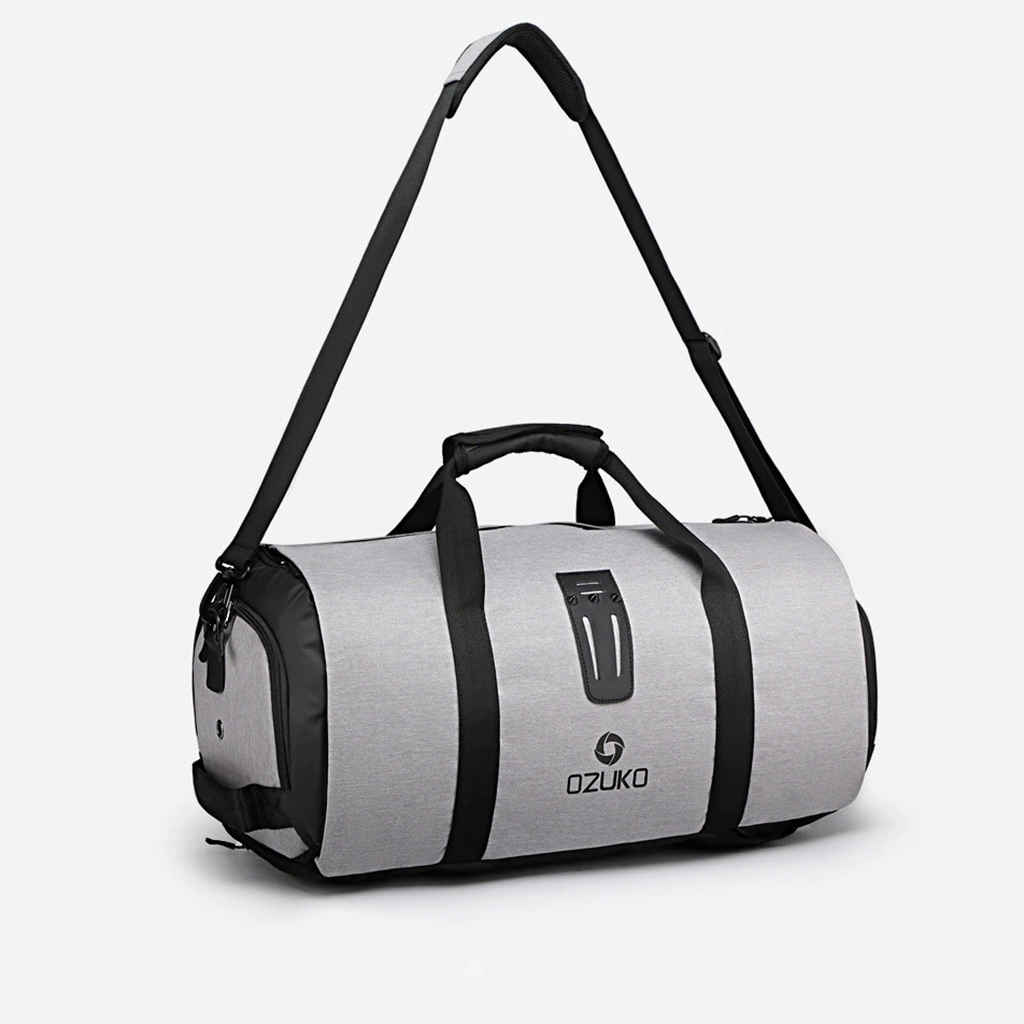 Ozuko Cc9209/9288 Multifunction Large Capacity Casual European And American Stylish Professional Outdoor Waterproof Travel & Duffle Bags (grey)