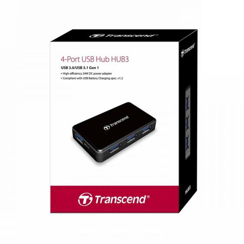 Transcend Ts-hub3k 4-port Usb 3.1 Gen 1 Hub Card Reader