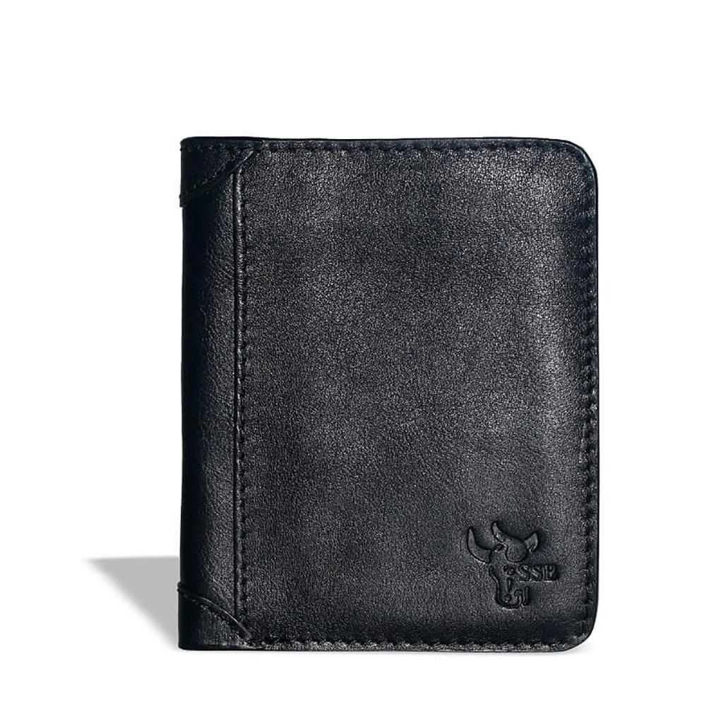 Short Billfolds Leather Wallet - Sb-w18 (black)