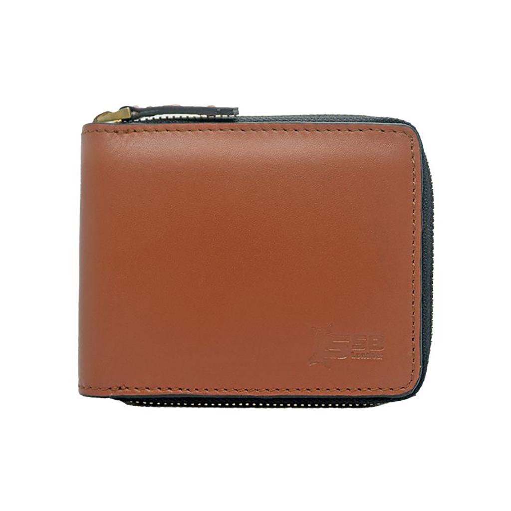 Bi-fold And Slim Leather Wallet-sb-w54 (tan)