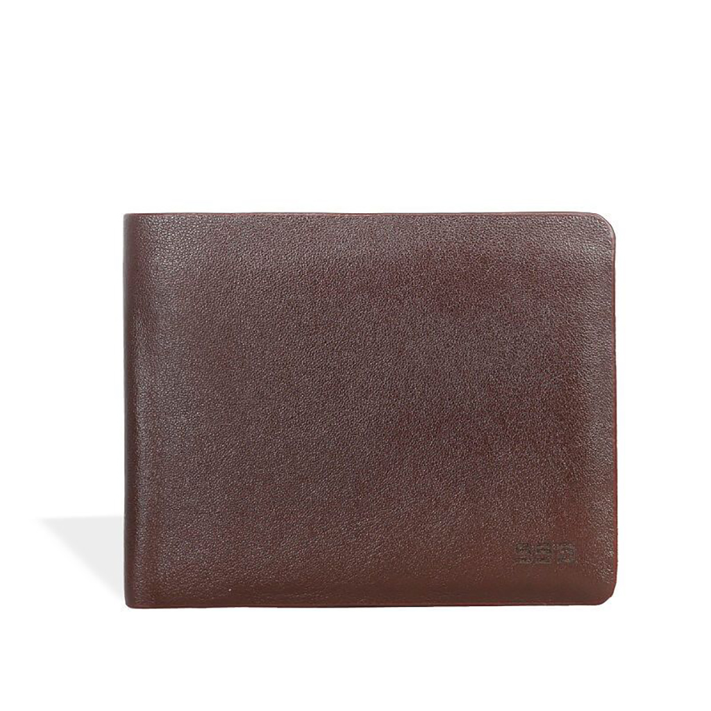 Executive Slim Leather Wallet - Sb-w51 (chocolate)