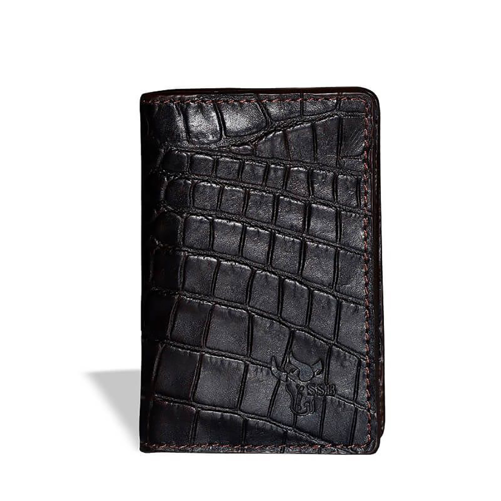 Card Holder Leather Wallet - Sb-w34 (black)
