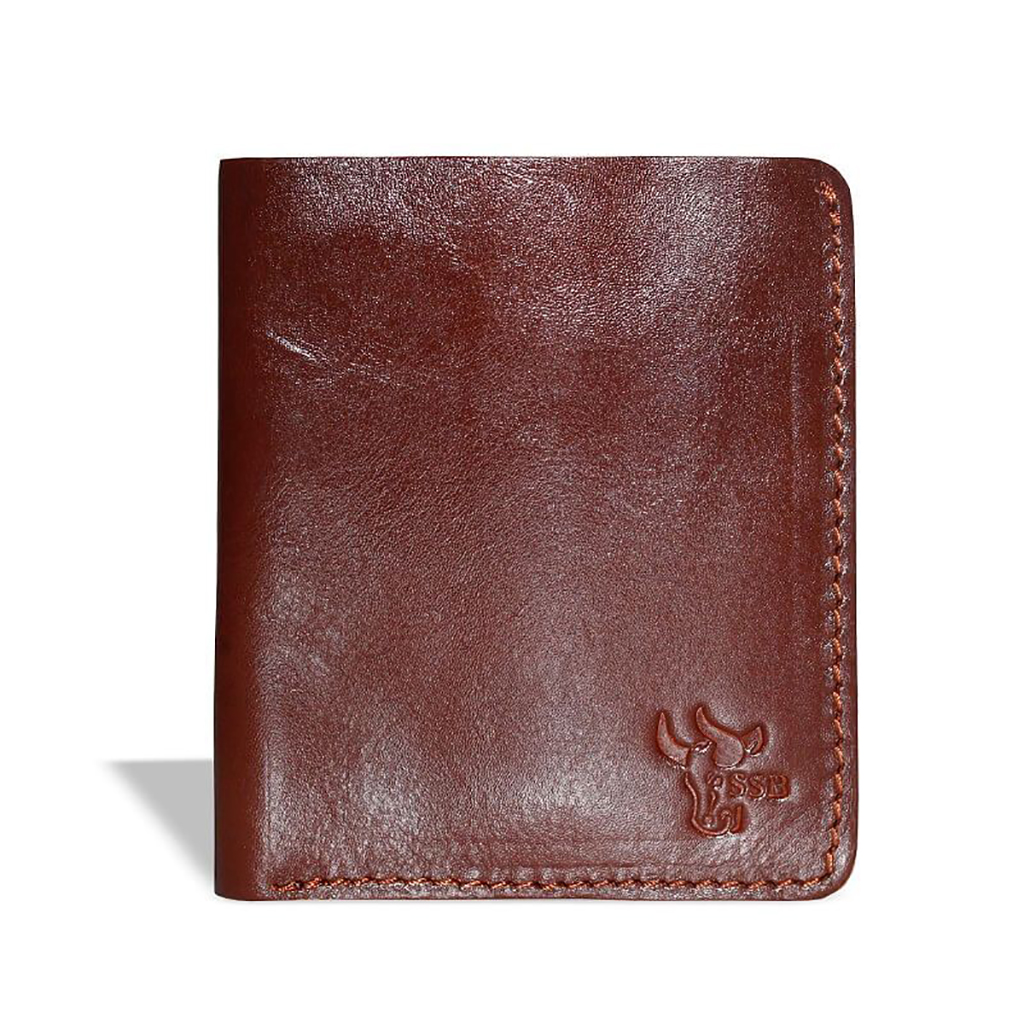 Purse And Card Holder Leather Wallet - Sb-w02 (chocolate)