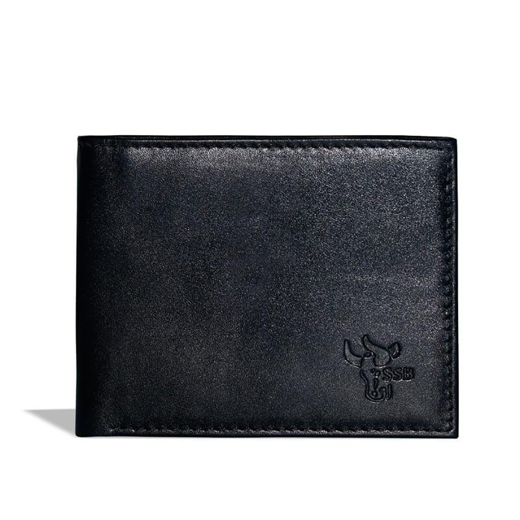 Credit Card Leather Wallet - Sb-w22 (black)