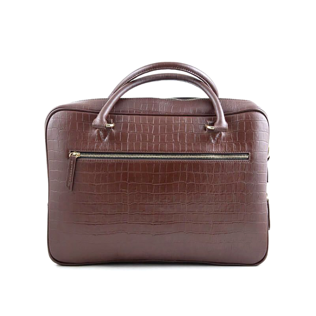 Croco Print Leather Briefcase Official Bag For Men - Sb-w16