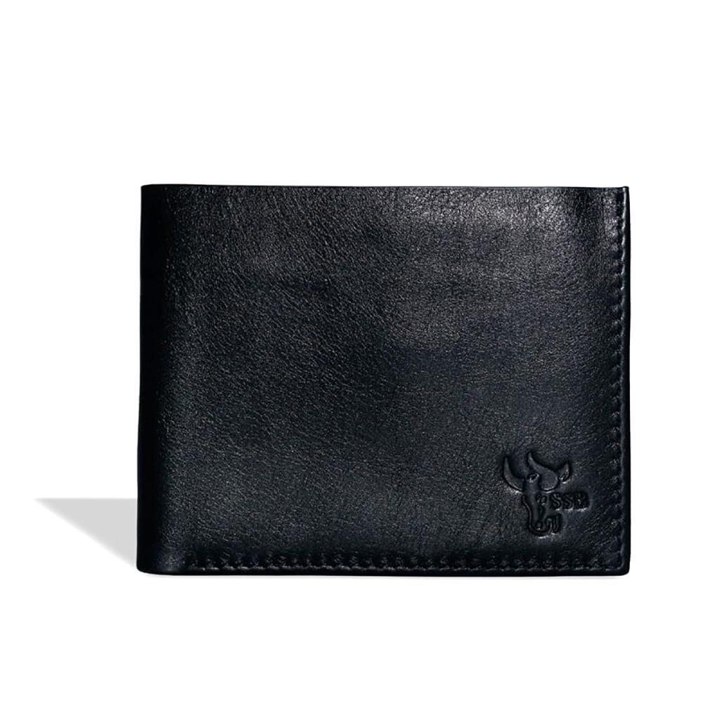 Leather Short Wallet - Sb-w04 (black)