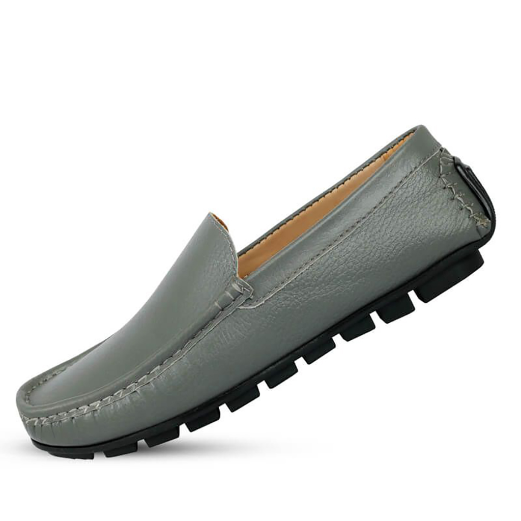 Leather Men's Loafers - Sb-s122 (ash)