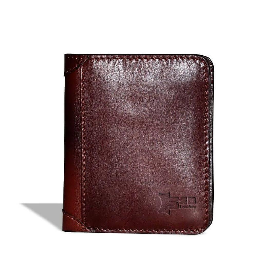 Antique Short Leather Wallet - Sb-w19 (antique Brown)
