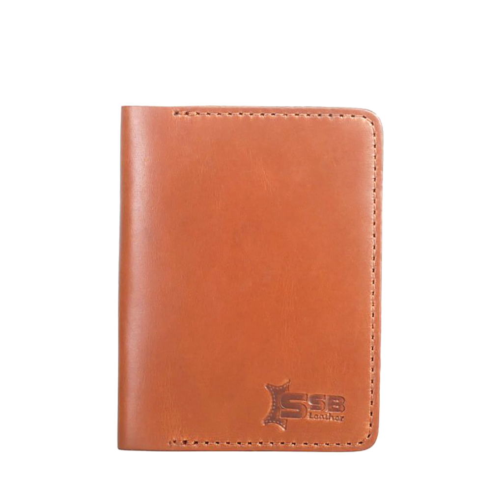 Leather Card Holder Wallet - Sb-w56 (brown)