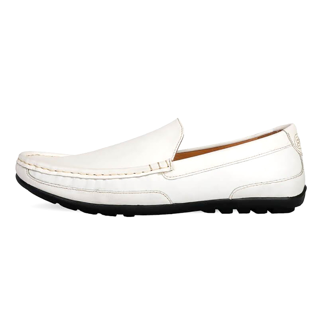 White Leather Loafer - Sb-s90
