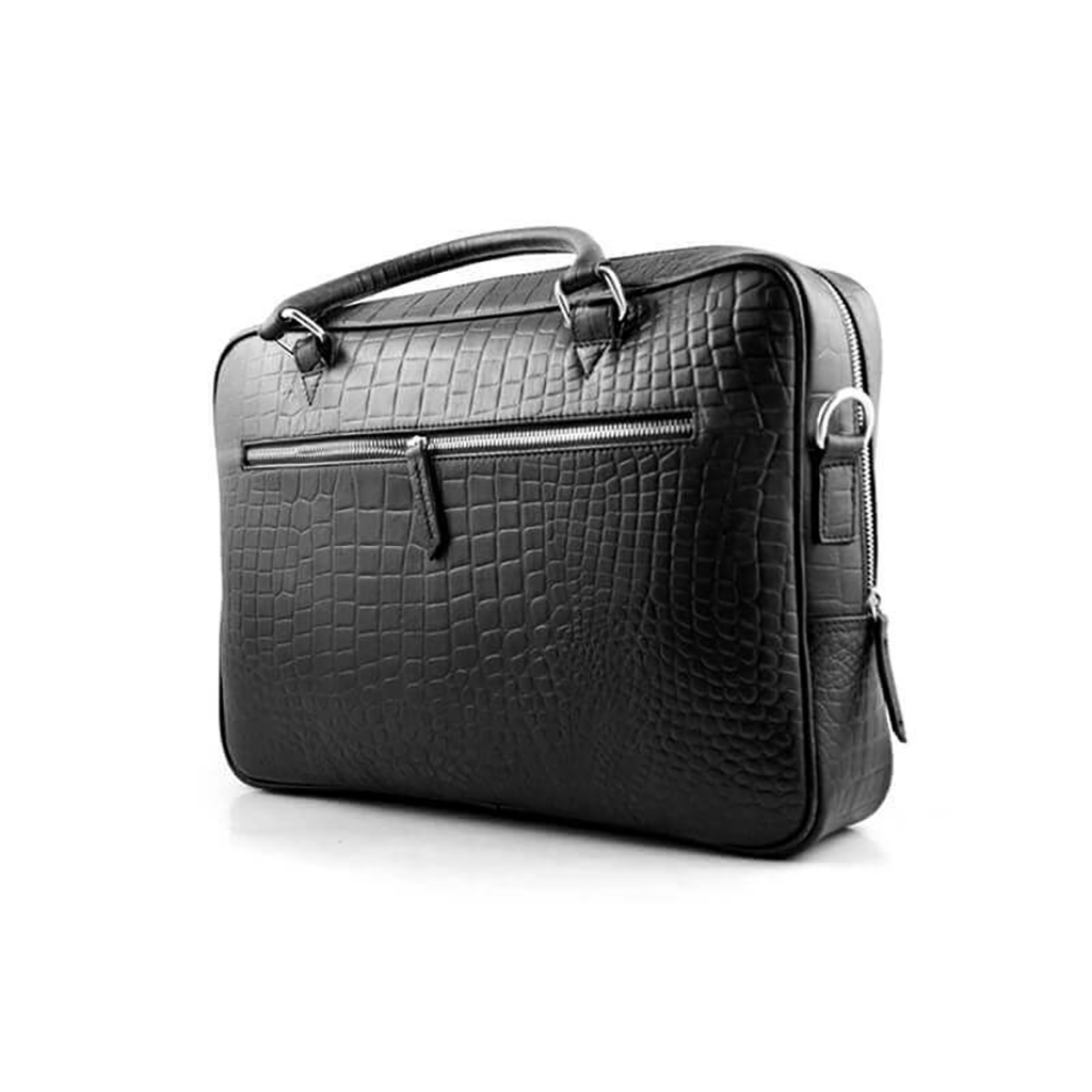 Croco Print Leather Briefcase Official Bag For Men - Sb-w15