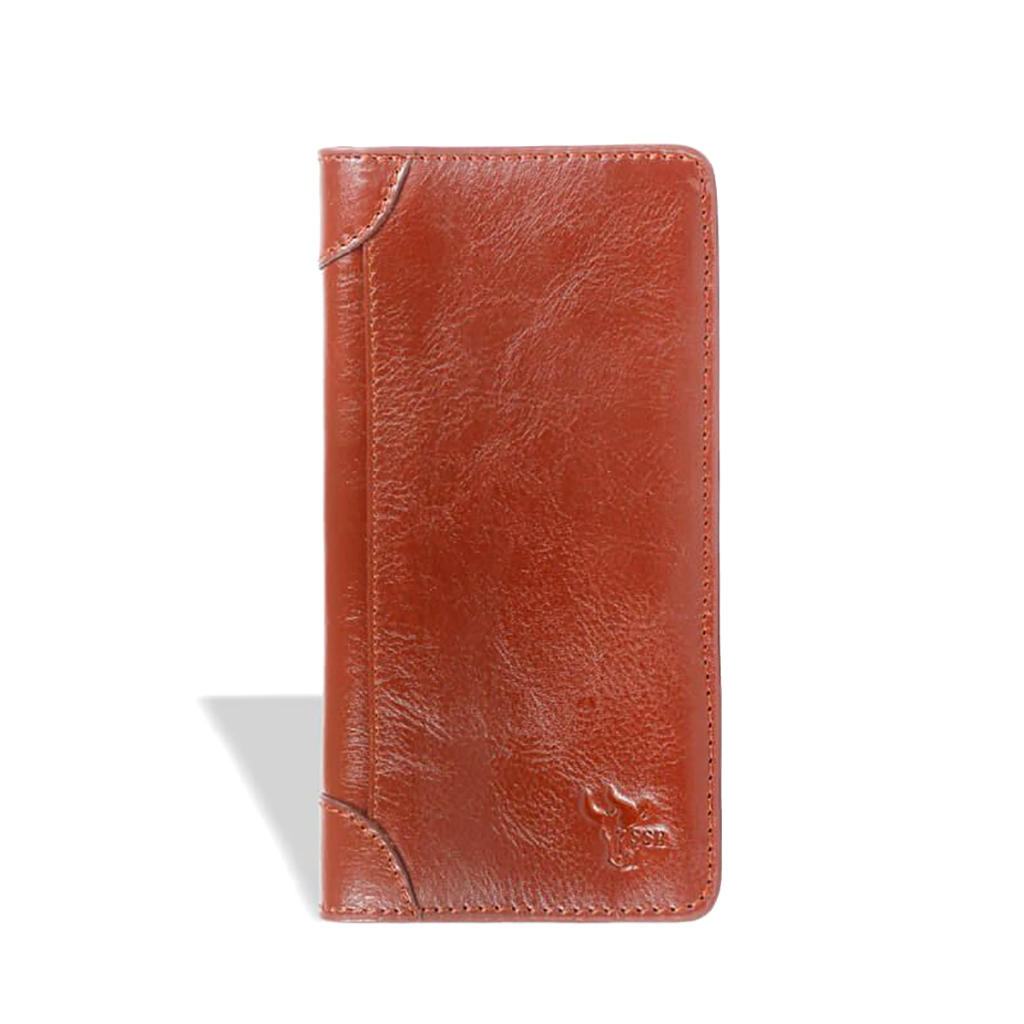 Long Leather Wallet - Sb-w01 (brown)