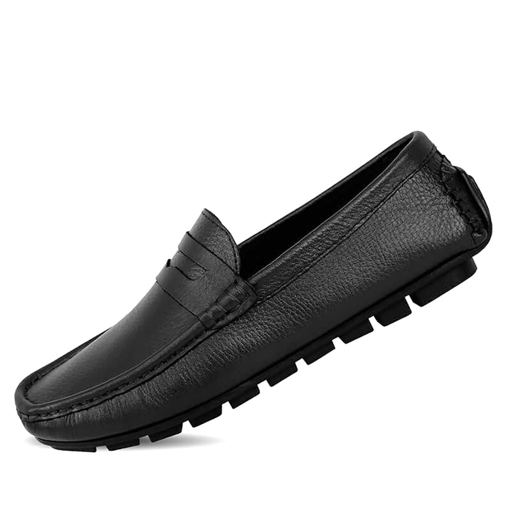 Driver Club Leather Loafer Men - Sb-s125 (black)