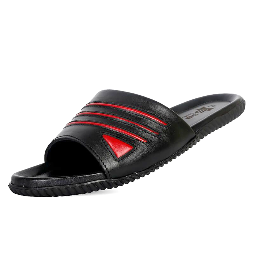 Ssb Leather Slide Sandal Sb-s91 (black)