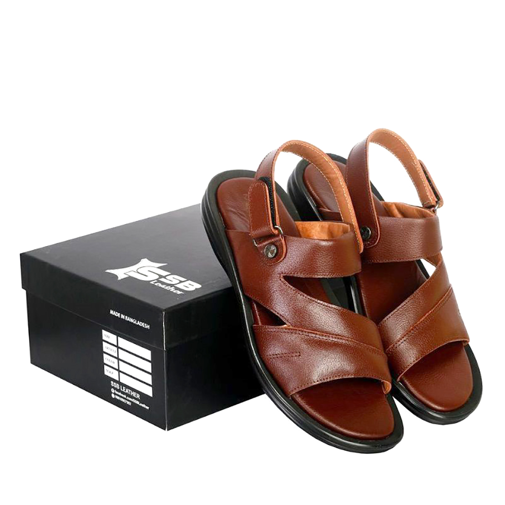 Ssb Leather Floater Men Sandals - Sb-s95 (chocolate)