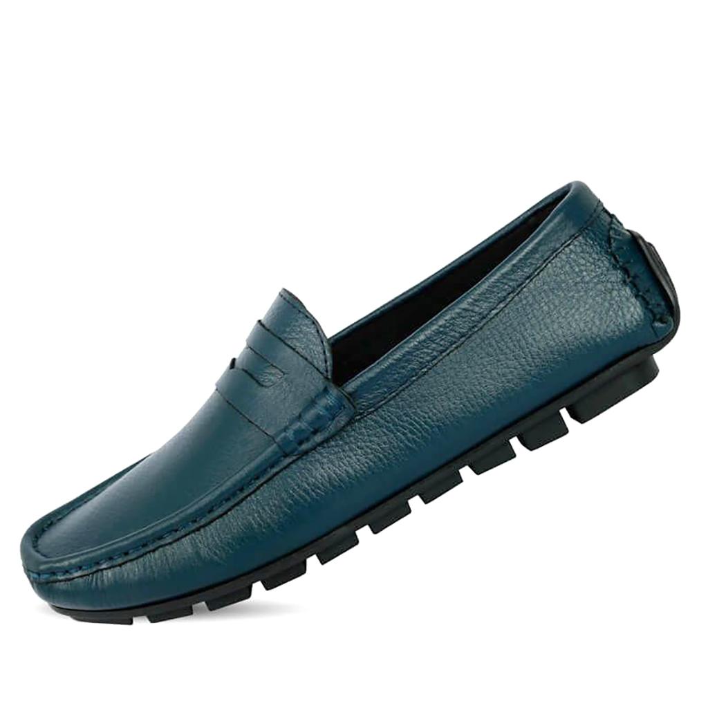 Diver Club Leather Loafer For Men's - Sb-s123 (marine Blue)