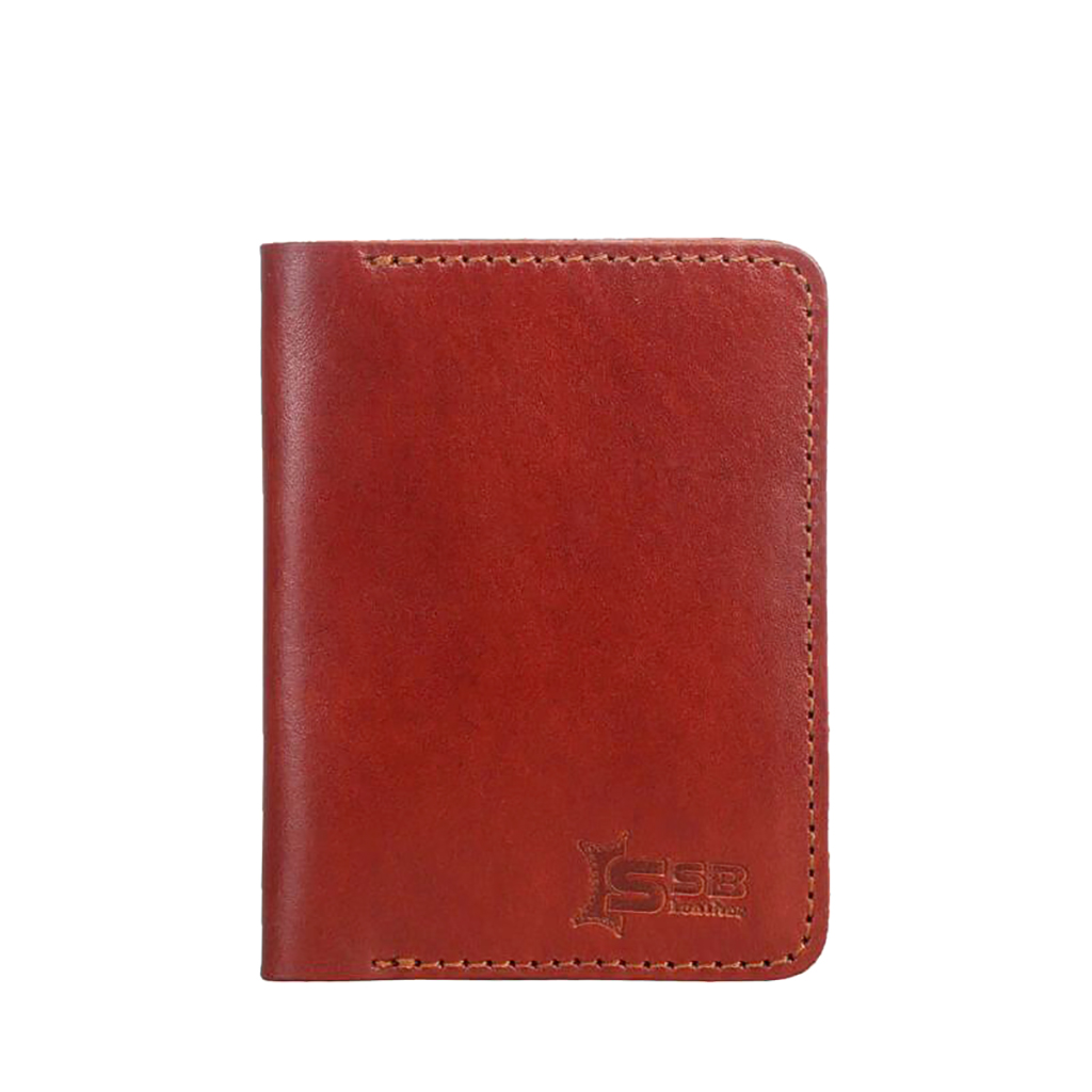 Leather Card Holder Wallet - Sb-w57 (maroon)