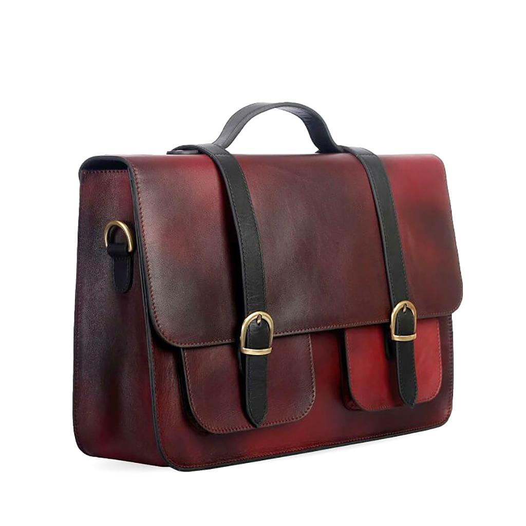 Ssb Antique Cara Premium Leather Executive Bag Sb-lp48 (antique Brown)