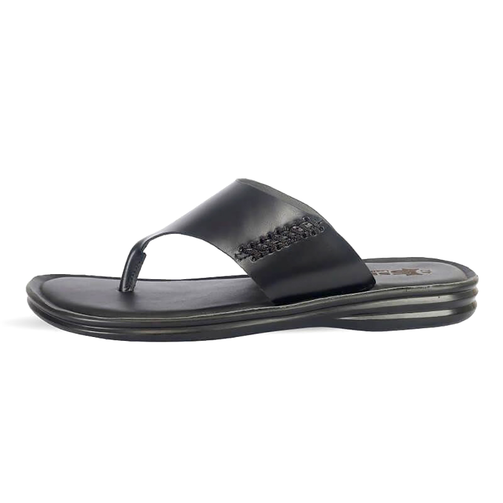 Ssb Leather Sandal - Sb-s87 (black)