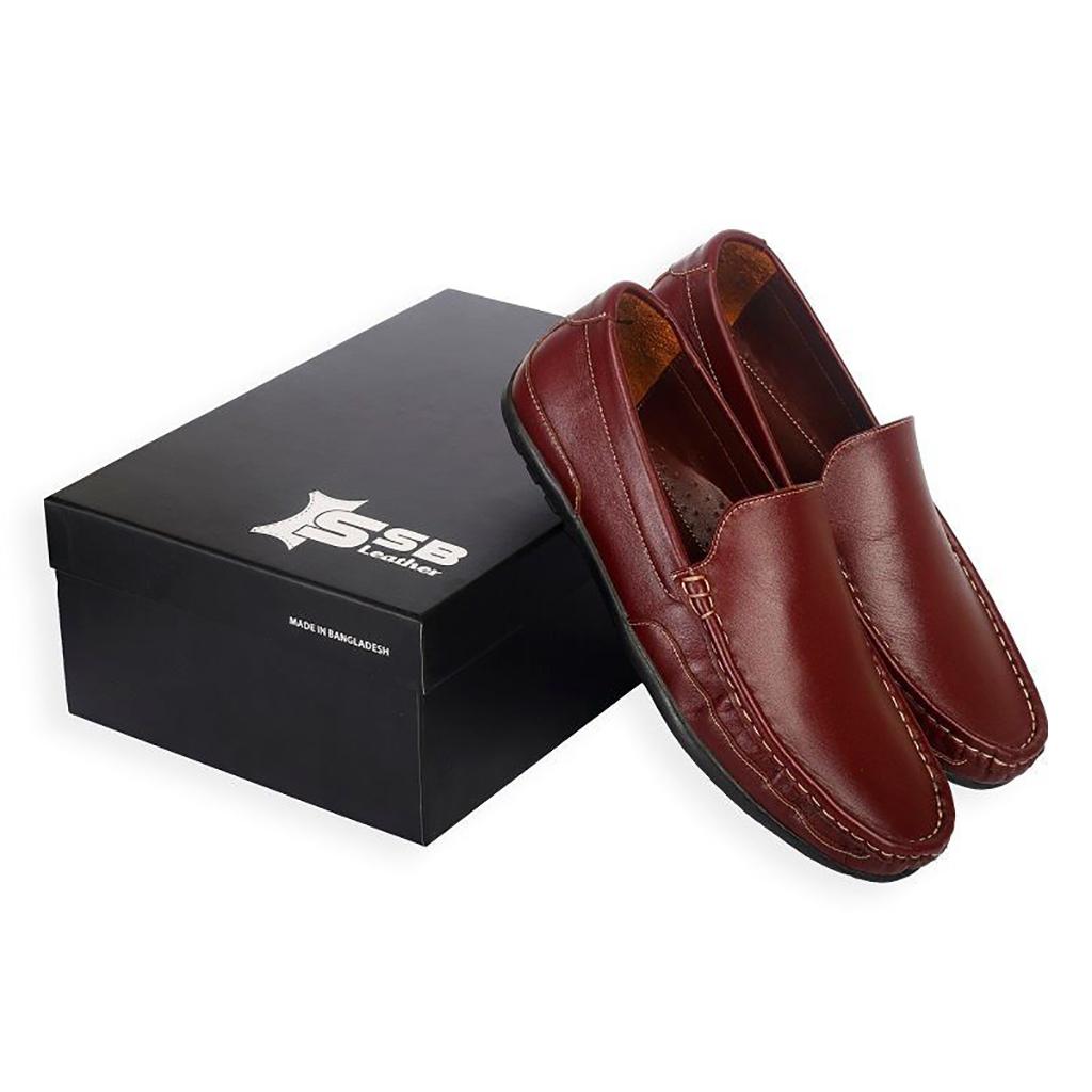 Loafer For Men - Sb-s98 (maroon)