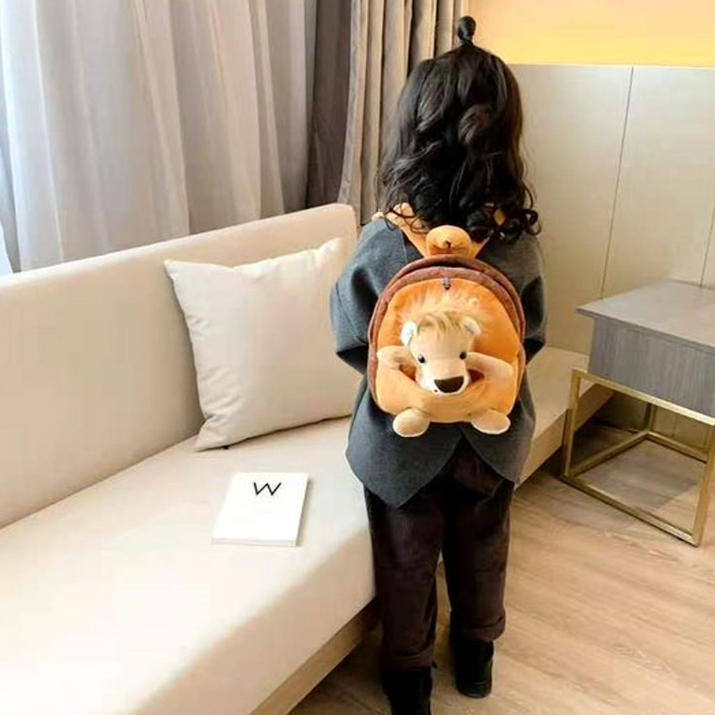 Baby Backpack With Doll (lion)