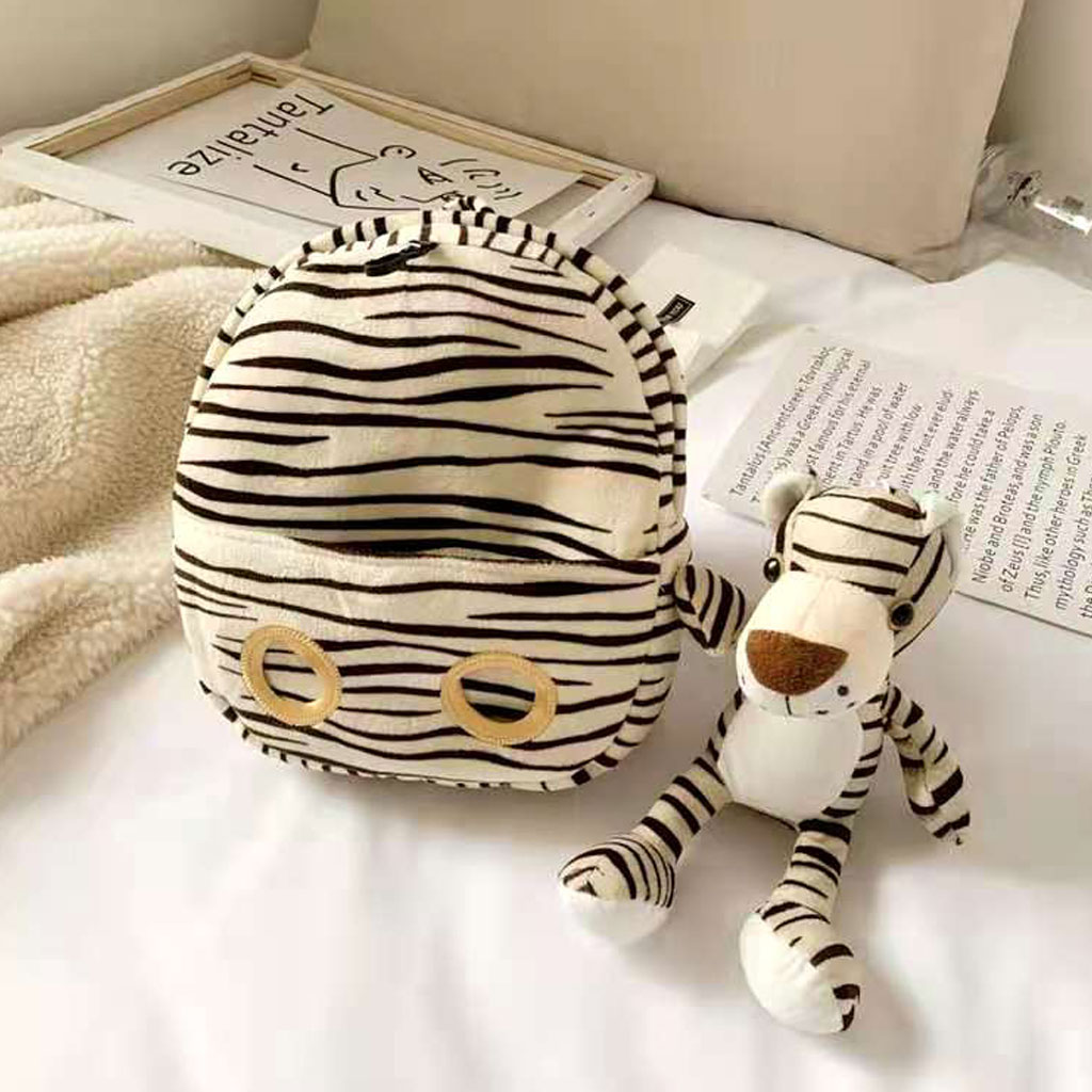 Baby Backpack With Doll (zebra)