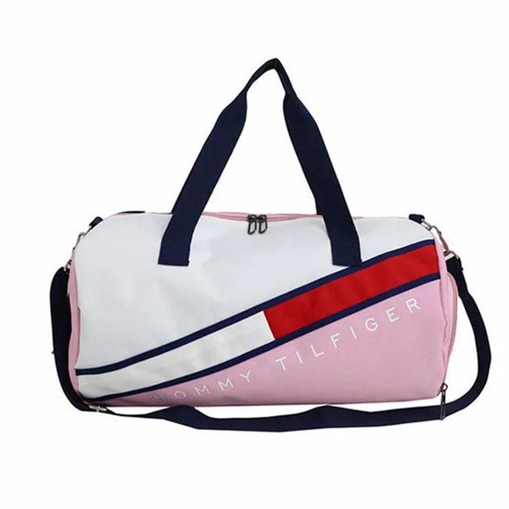 Hommy Tilfiger Branded Large Capacity Travel Bag (pink)