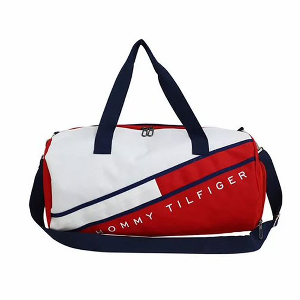 Hommy Tilfiger Branded Large Capacity Travel Bag (red)