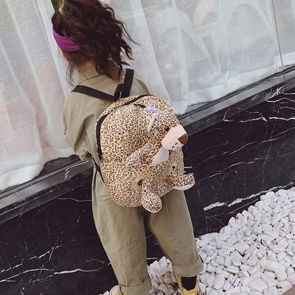 Baby Backpack With Doll (leopard)