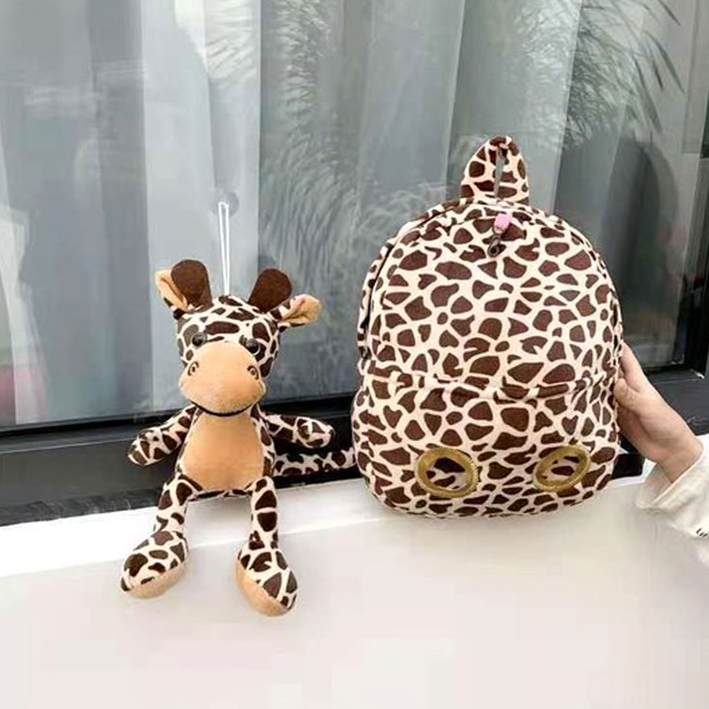 Baby Backpack With Doll (giraffe)
