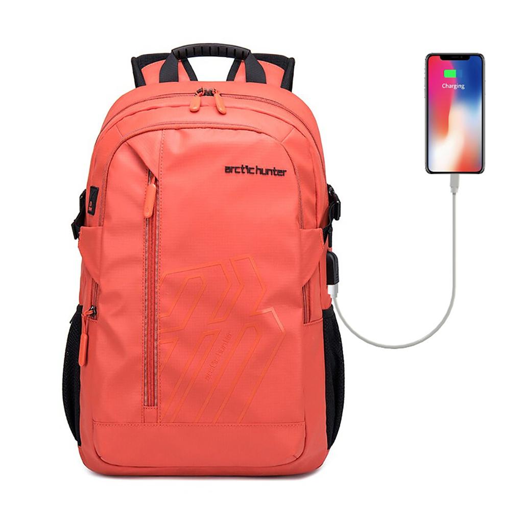 Arctic Hunter B00387 Stylish Men Laptop Business Professional Travel Backpack (orange)