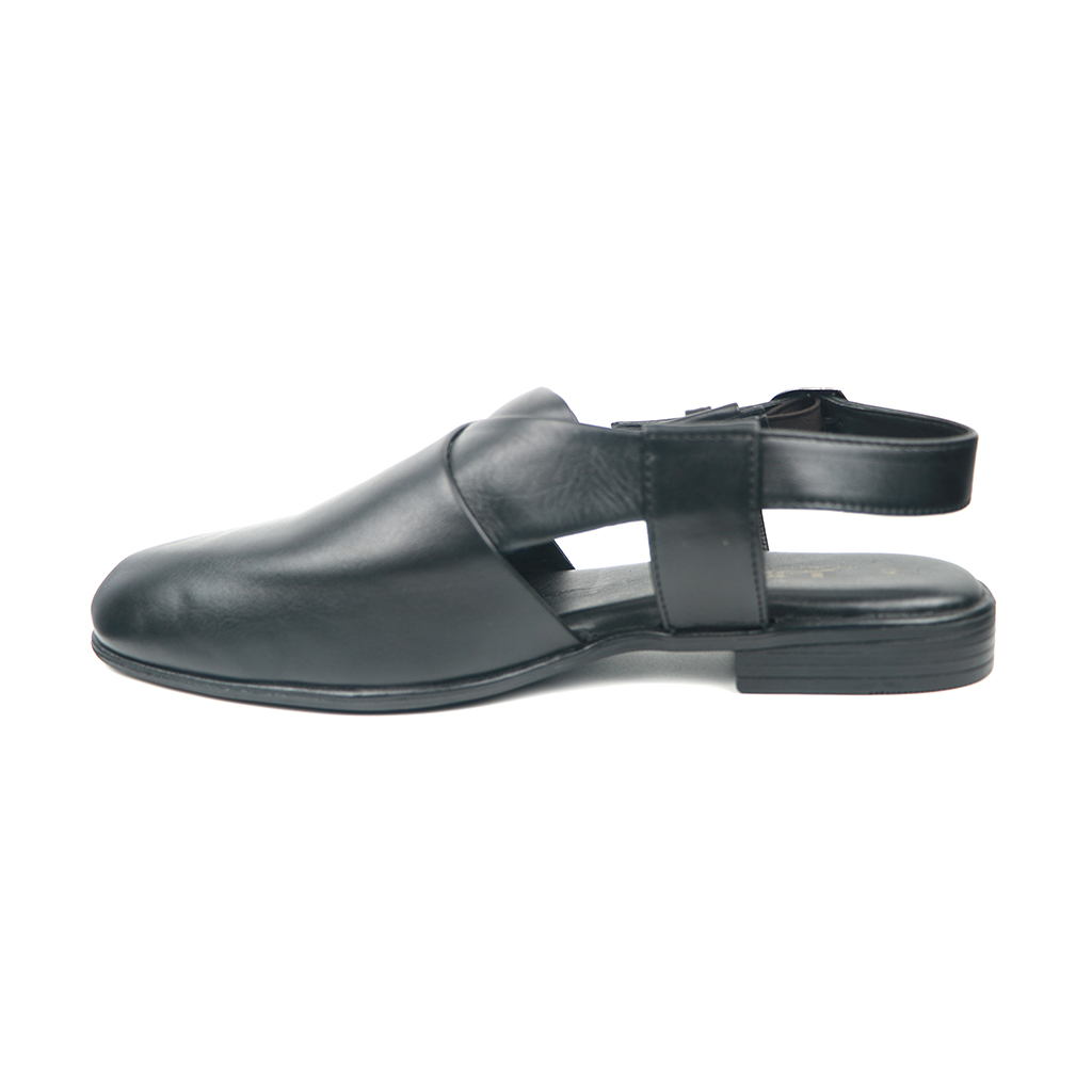 Upper Lining Fiber Kubly Strap Sandal For Men K-01 (black)
