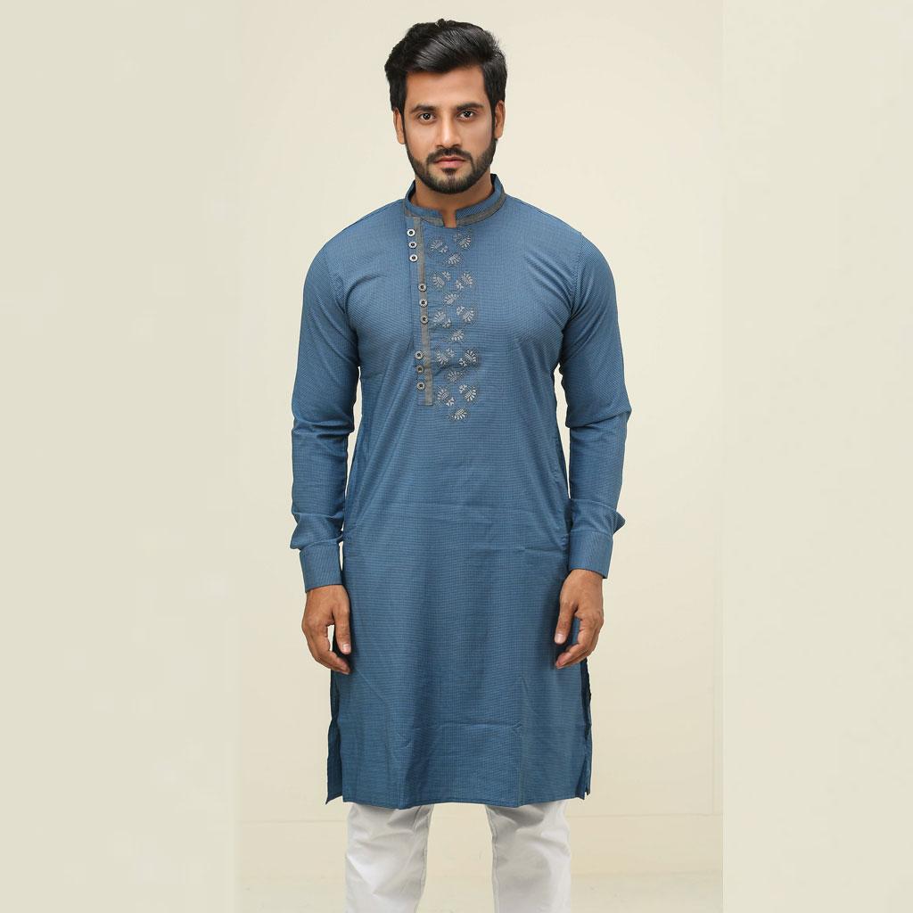 Khaki Punjabi For Men (sky Blue) - K-128